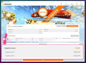 OneMix 3s 実機 ベンチマーク