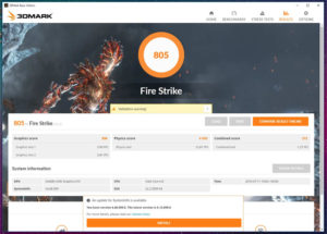 OneMix 3s 実機 fire strike