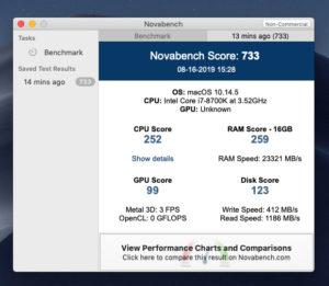 VMWare Mac OS ベンチマーク