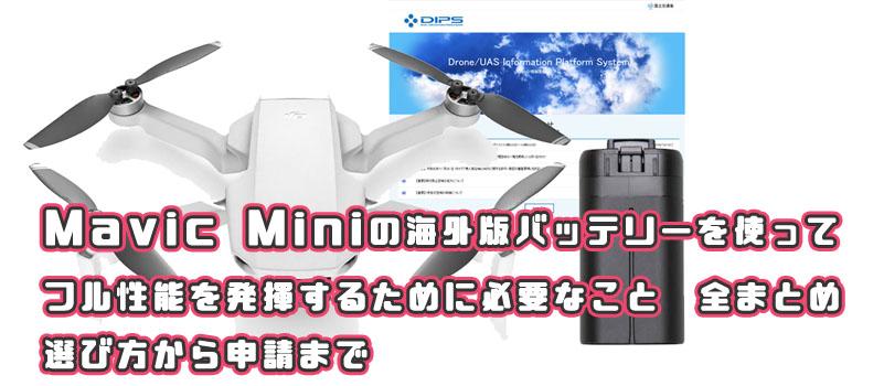 Mavic Mini 海外バッテリー 日本