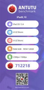 iPad Pro 第4世代 A12Z Antutu