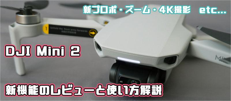 DJI Mini 2 レビュー ズーム 使い方