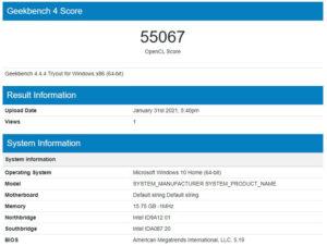 OneGx1 Pro ベンチマーク GeekBench4