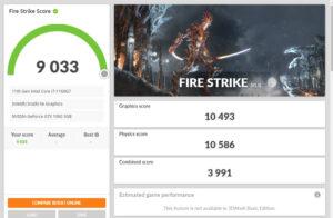 OneGx1 Pro ベンチマーク Fire Strike