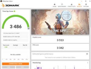 OneGx1 Pro ベンチマーク Time Spy