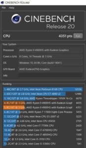 Zephyrus G14 メモリ 40GB ベンチ