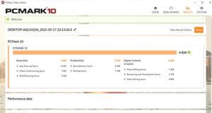 GPD WIN 3 ベンチマーク PCMark10